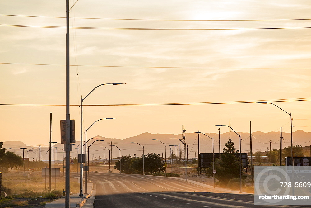Dusty morning on Route 66, Arizona, United States of America, North America