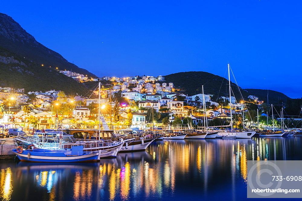 Kas harbour, Lycia, Turquoise Coast, Mediterranean Region, Anatolia, Turkey, Asia Minor, Eurasia