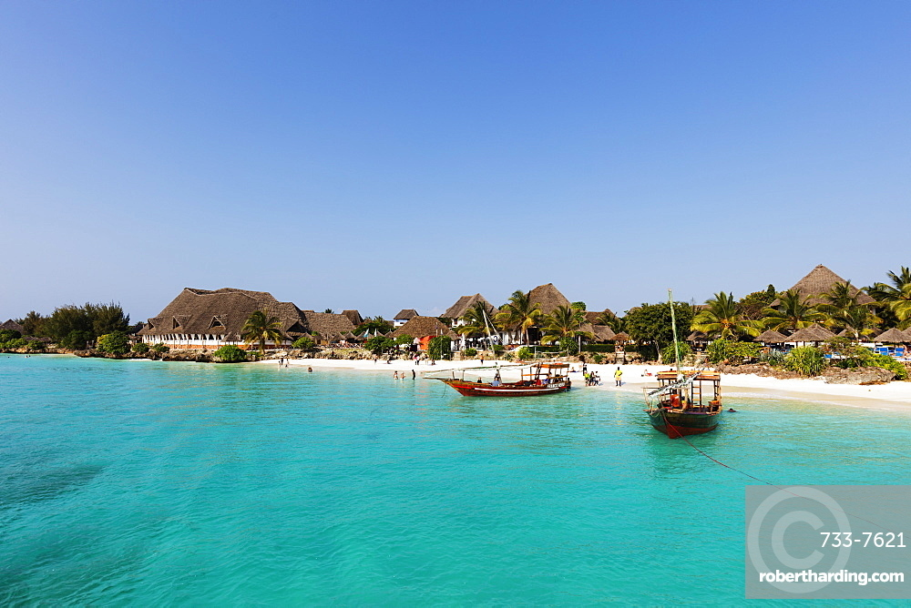 Nungwi Beach resort, Island of Zanzibar, Tanzania, East Africa, Africa