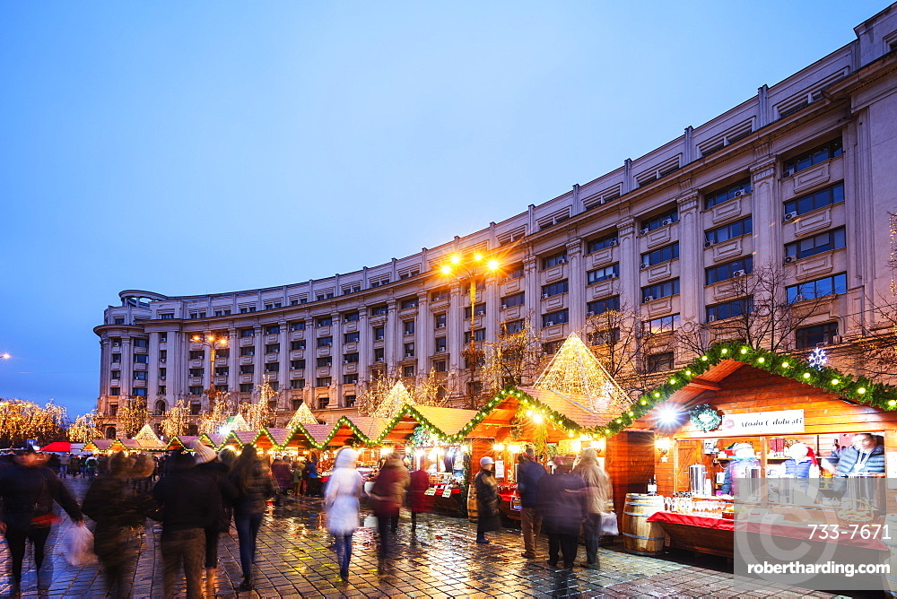 Eastern Europe, Romania, Bucharest, Christmas market