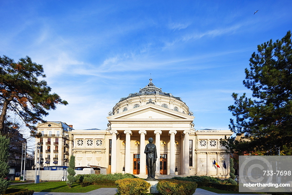 Eastern Europe, Romania, Bucharest, Piata George Enescu, Romanian Athenaeum Concert Hall