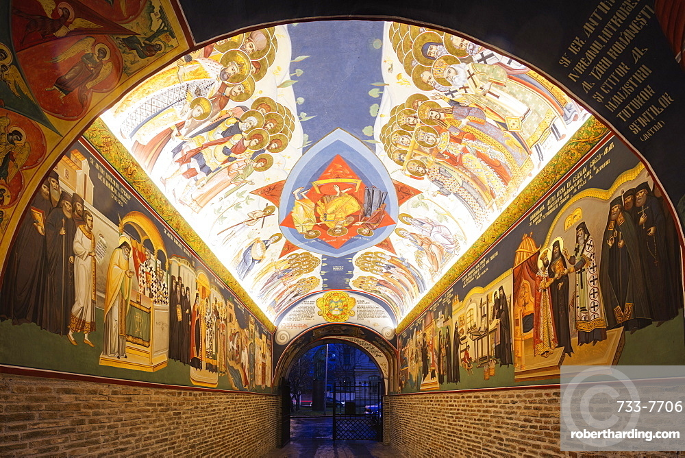 The Antim Monastery, built between 1713 and 1715 by Saint Antim Ivireanu, Bucharest, Romania, Europe