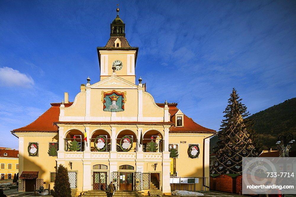History Museum building and clock tower, Brasov, Romania, Europe