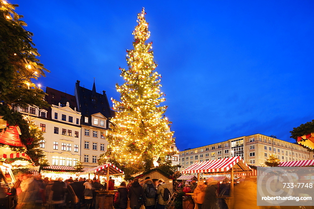 Europe, Germany, Saxony, Leipzig Christmas market, Old Town Hall (Altes Rathaus)