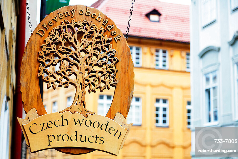 Czech handicraft sign, Prague, Czech Republic, Europe