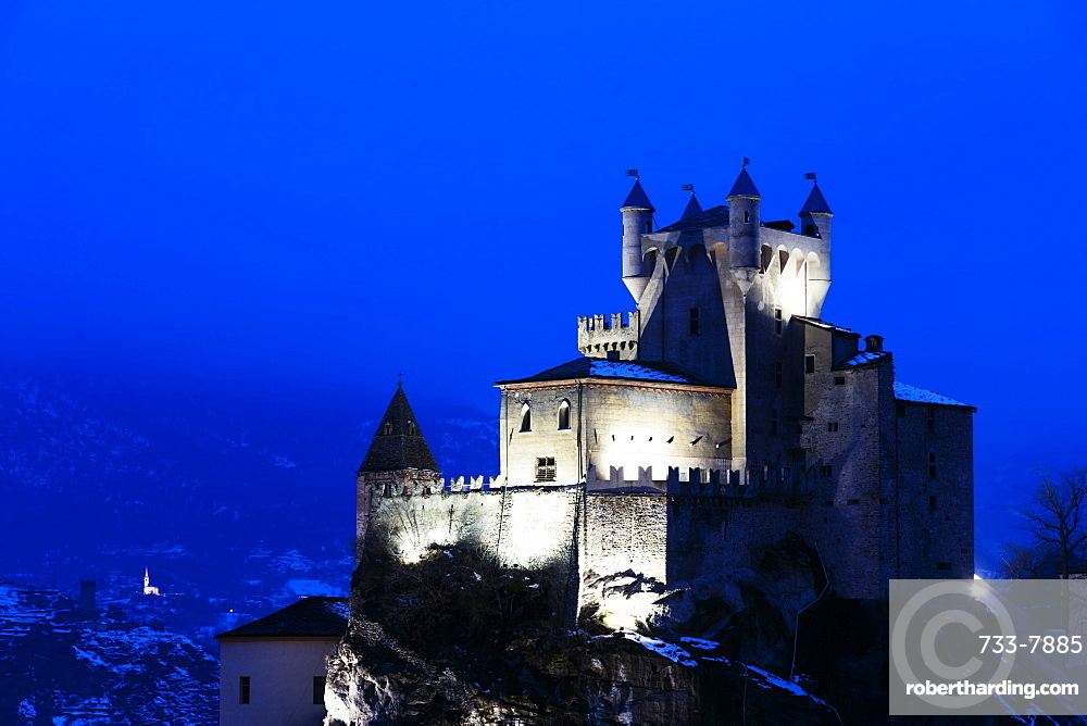 St. Pierre Castle, Aosta Valley, Italy, Europe