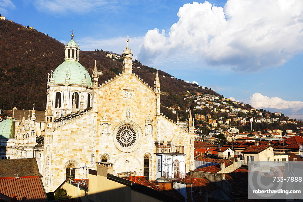 Como Cathedral dedicated to the Assumption of the Blessed Virgin Mary, Como Town, Lake Como, Lombardy, Italian Lakes, Italy, Europe