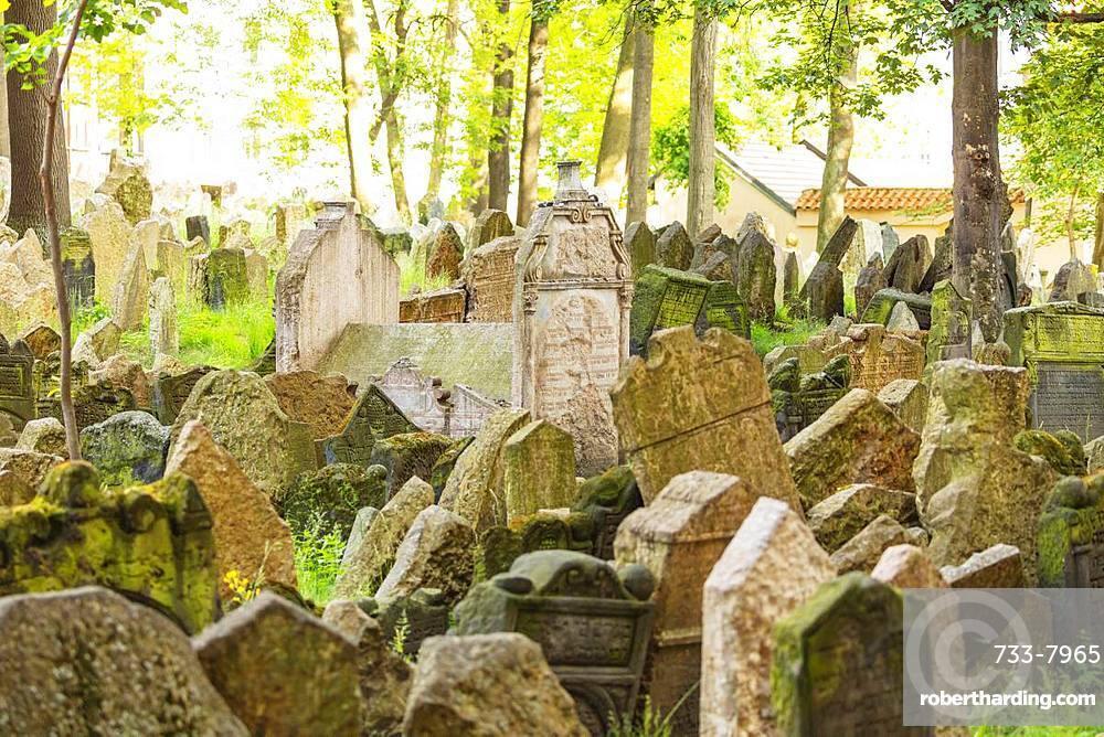 Jewish Cemetery, Prague, UNESCO World Heritage Site, Bohemia, Czech Republic, Europe