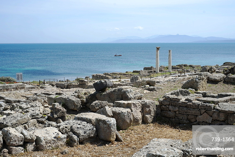 The Phoenician Roman port of Tharros, Sardinia, Italy, Mediterranean, Europe