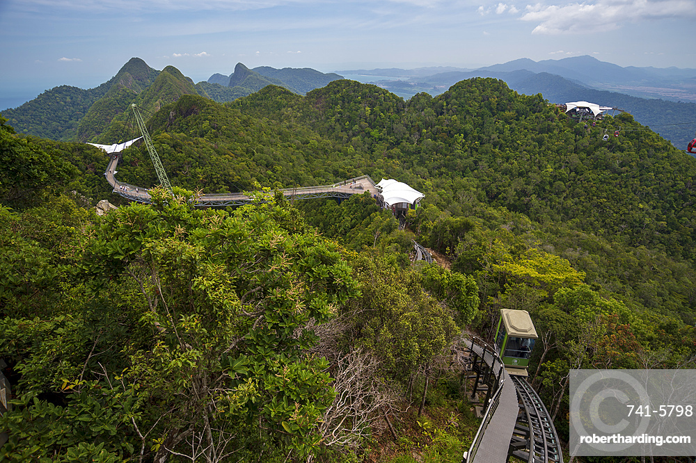 A view of Langkawi sky bridge.
