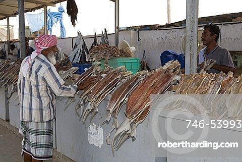 Fish market, Al Mukalla, Yemen, Middle East
