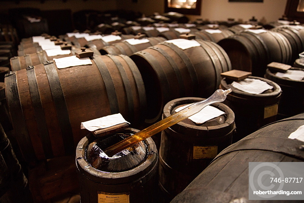 Traditional acetaia where it is aged balsamic vinegar of Modena, IGP, ABM, Magreta, Emilia Romagna, Italy, Europe
