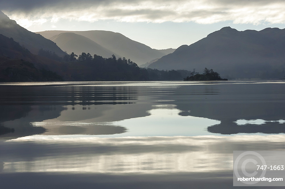Ullswater, Little Island in November, Lake District National Park, Cumbria, England, United Kingdom, Europe