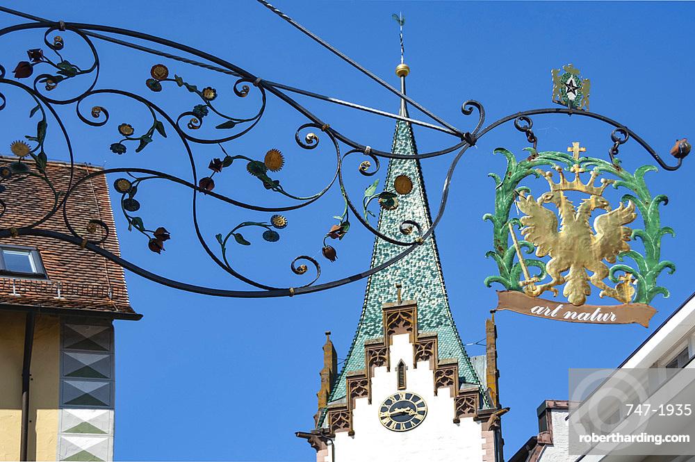 Shop sign, Engen, Baden Wurtemburg, Germany, Europe, EU