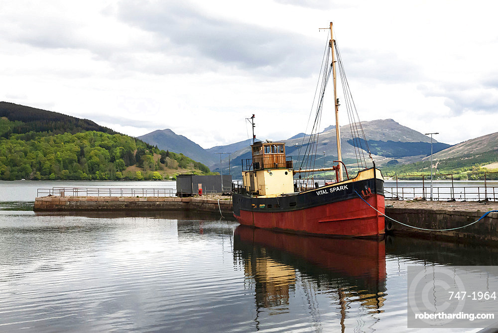 Loch Fyne, Inveraray Harbour, Vital Spark, Argyll, Scotland, United Kingdom, Europe