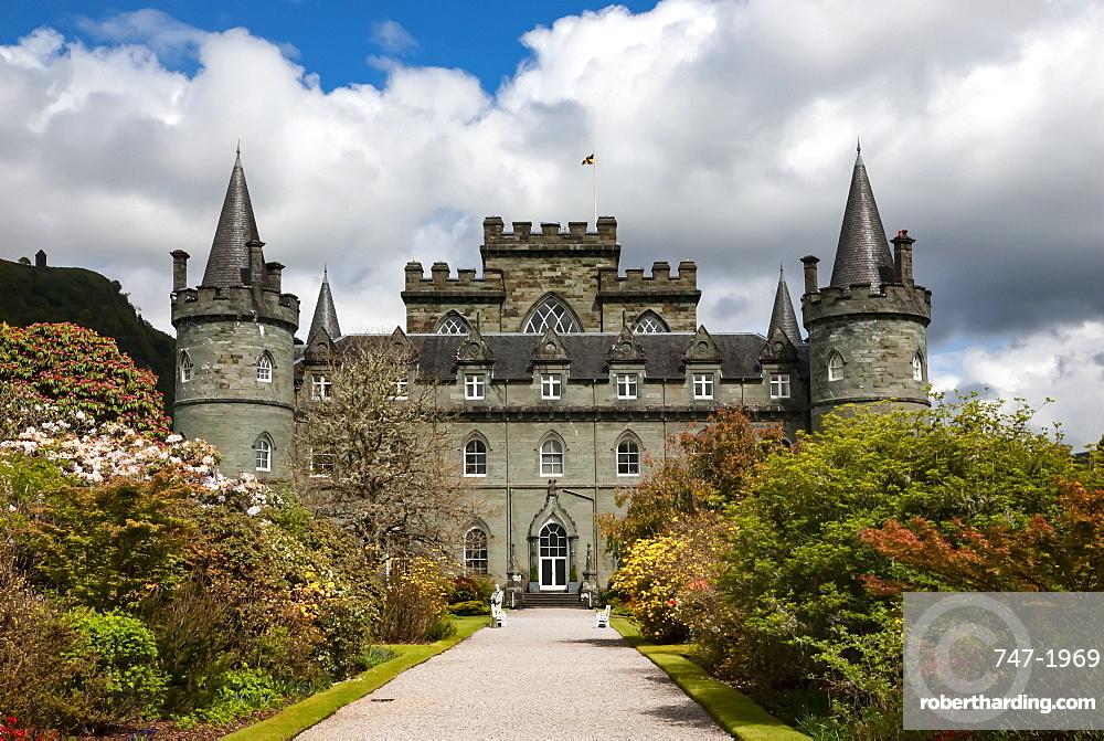 Inveraray Castle and Garden, Clan Campbell Seat, Argyll, Scotland, UK