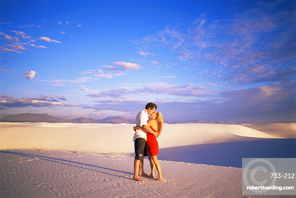 Kissing White Sands National Monument New Mexico United States Of America