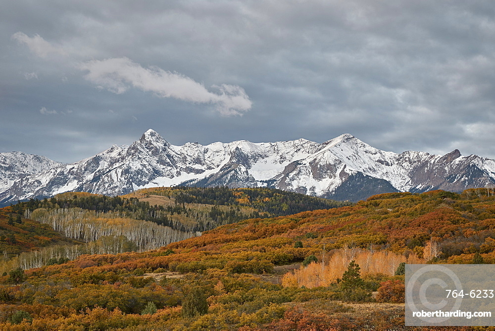 Sneffels Range in the fall, Uncompahgre National Forest, Colorado, United States of America, North America