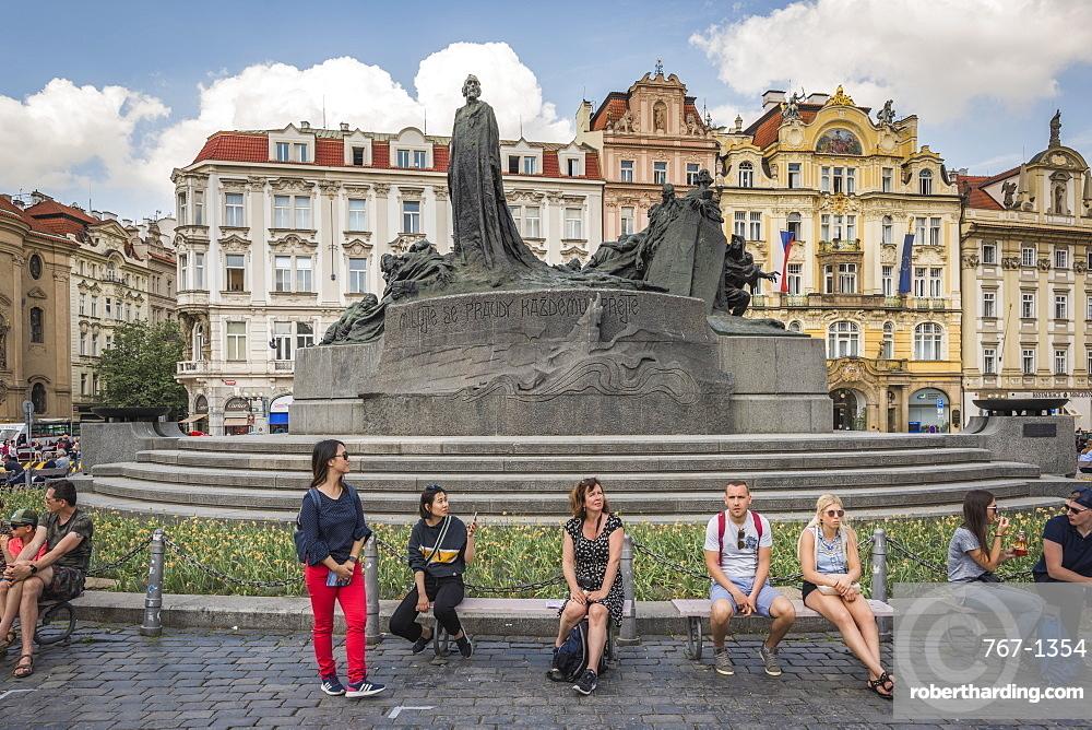 Jan Hus Monument, Prague, Czech Republic, Europe