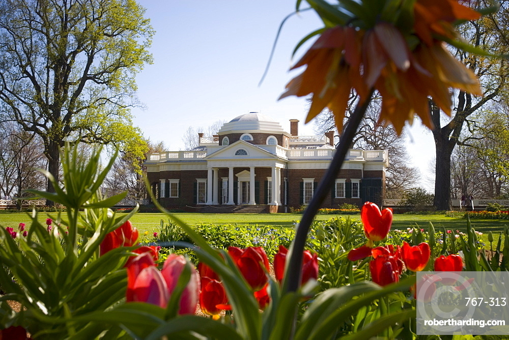 Thomas Jefferson's Monticello, UNESCO World Heritage Site, Virginia, United States of America, North America