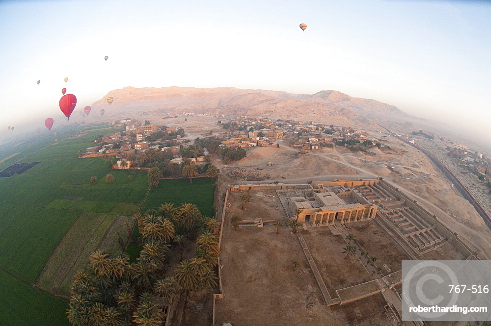 Balloons near Valley of the Kings, Luxor, Egypt, Africa