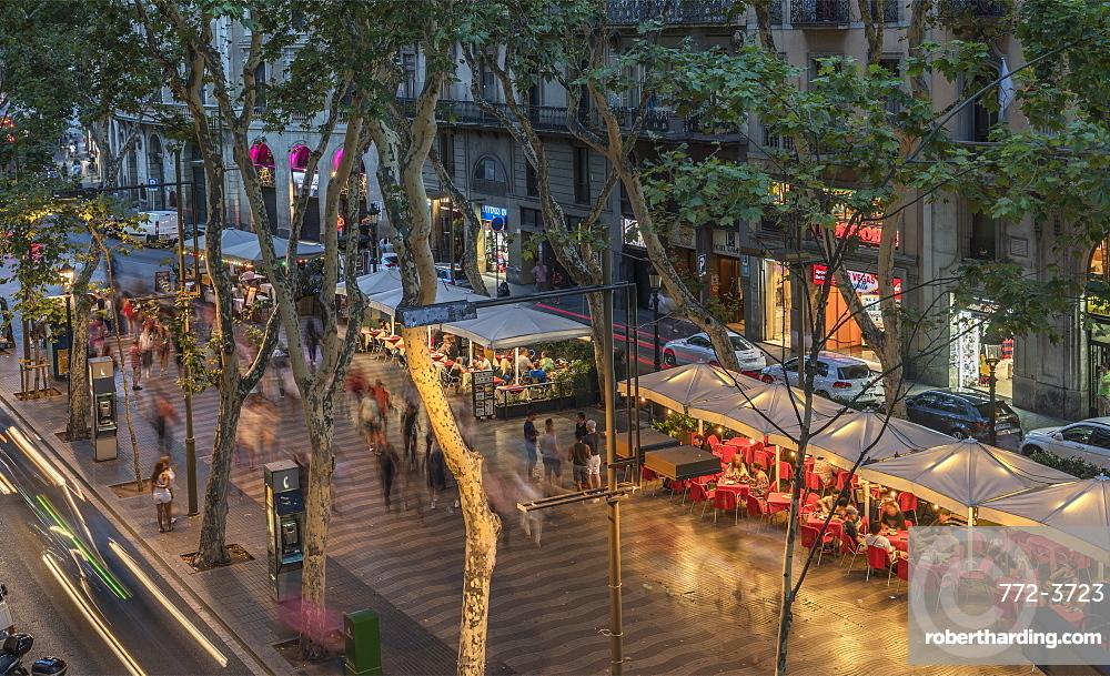 Spain. Barcelona. La Rambla.