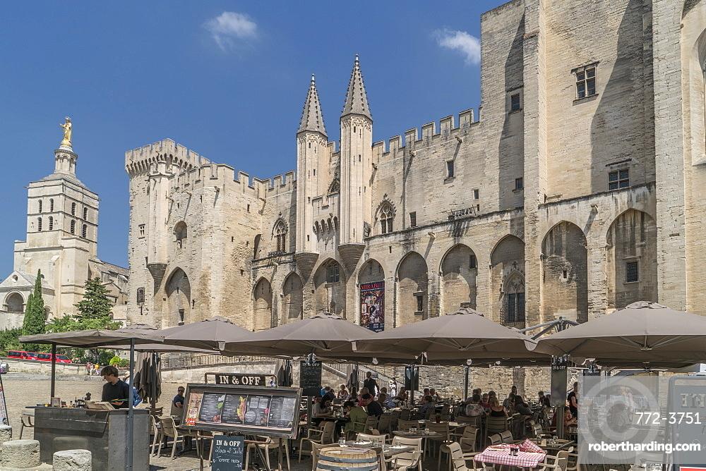 France. Provence. Avignon. The Popes Palace.