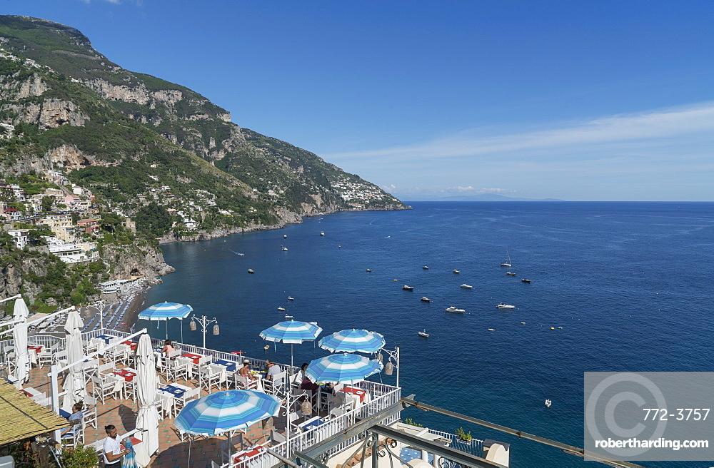 View of Positano, on the Amalfi Coast.
