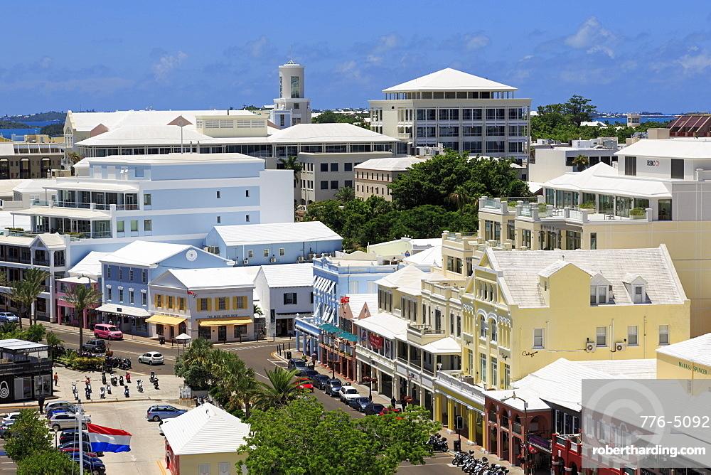 Skyline, Hamilton City, Pembroke Parish, Bermuda, Atlantic, Central America