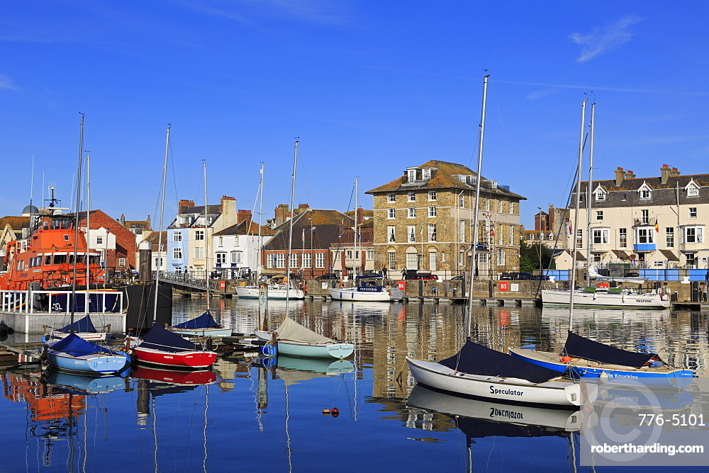 Boats, Weymouth Harbour, Dorset, England, United Kingdom, Europe