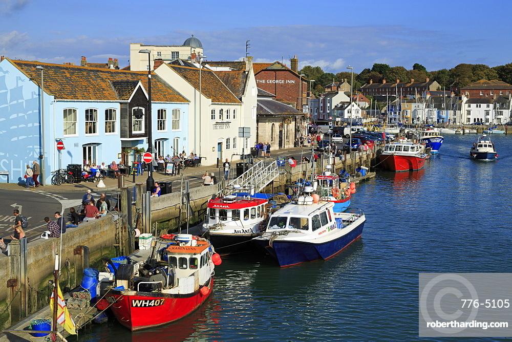 Pubs on Custom House Quay, Weymouth, Dorset, England, United Kingdom, Europe