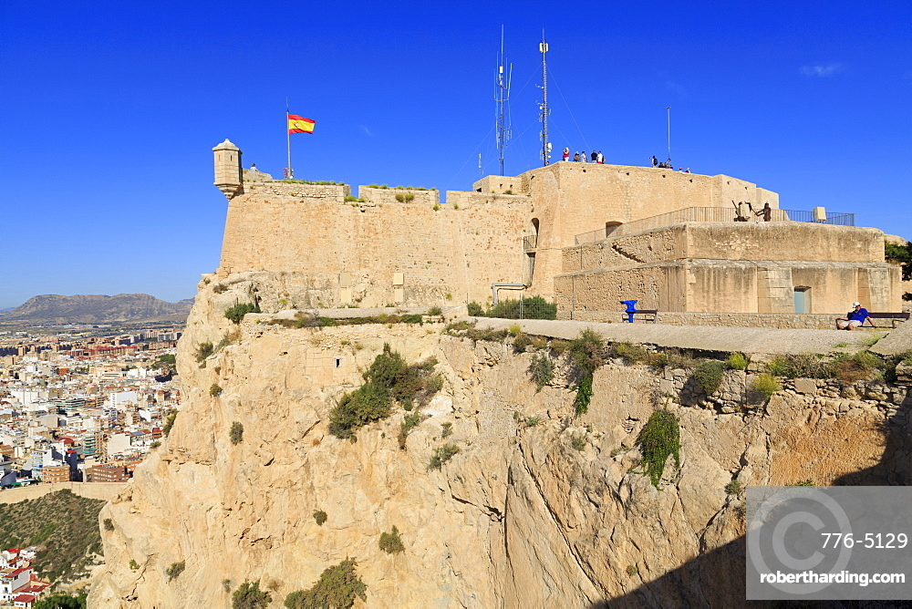 Santa Barbara Castle, Alicante City, Spain, Europe
