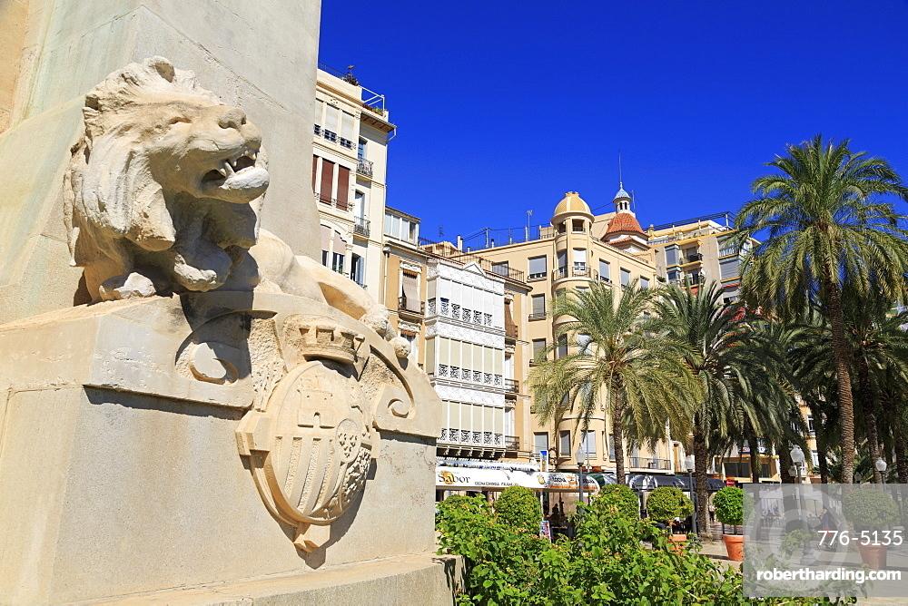 Canalejas Monument, Alicante City, Spain, Europe