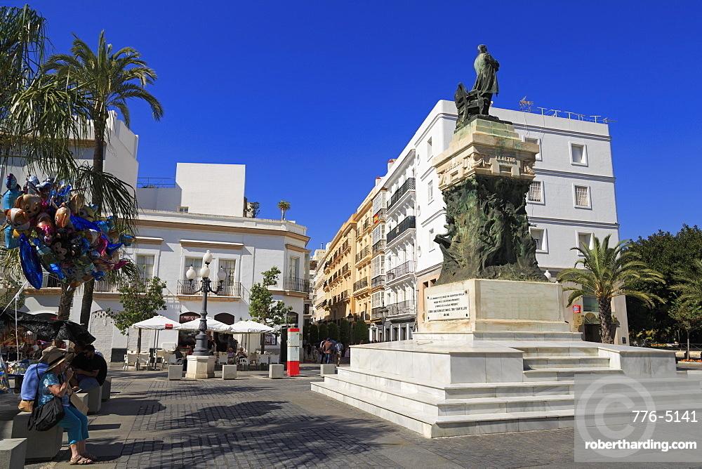 Cadiz A Moret Monument, Plaza de San Juan de Dios, Cadiz, Andalusia, Spain, Europe