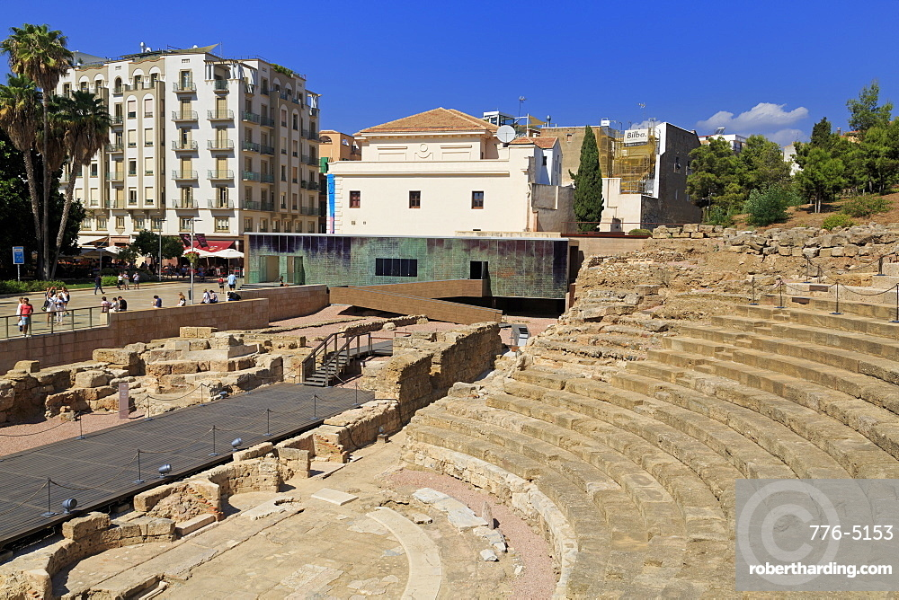 Roman Theatre, Malaga, Andalusia, Spain, Europe