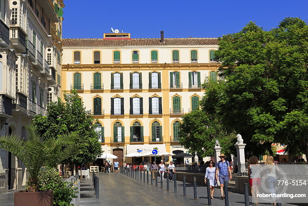Merced Square, Malaga City, Andalusia, Spain, Europe