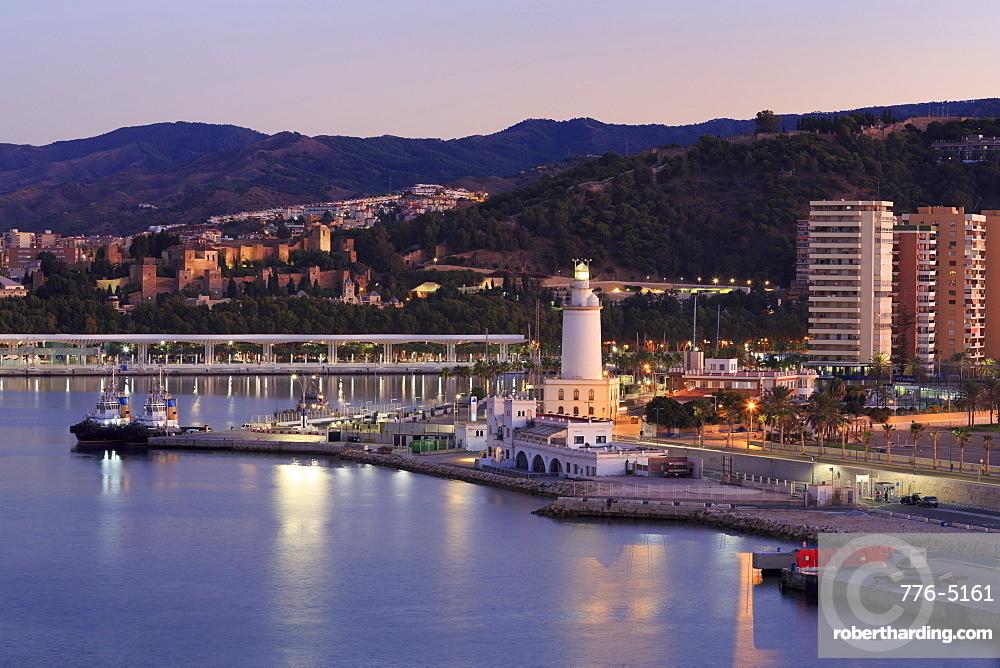 Lighthouse, Malaga, Andalusia, Spain, Europe