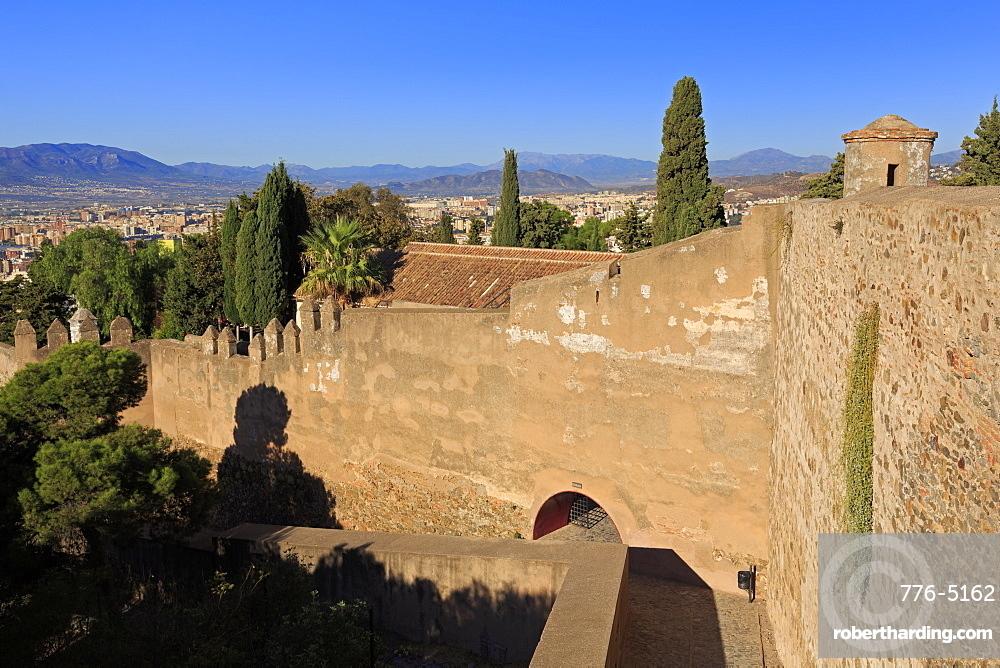 Gibralfaro Castle, Malaga, Andalusia, Spain, Europe