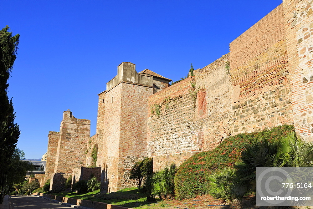 Alcazaba Palace, Malaga, Andalusia, Spain, Europe