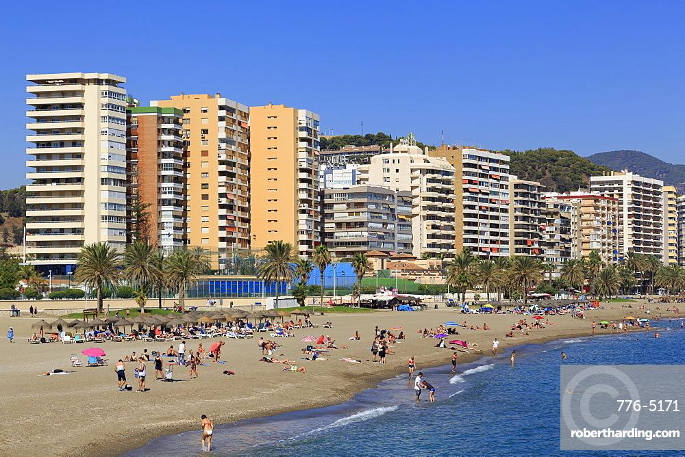 Malagueta Beach, Malaga City, Andalusia, Spain, Europe