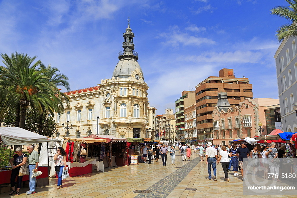 Cartagena City Hall, Cartagena, Murcia, Spain, Europe