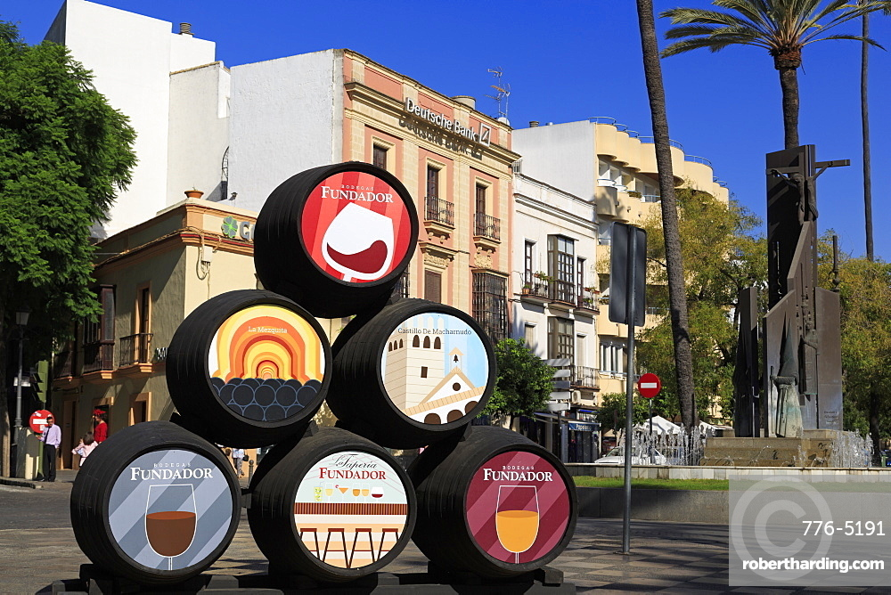 Sherry barrels, Jerez de la Frontera City, Andalusia, Spain, Europe