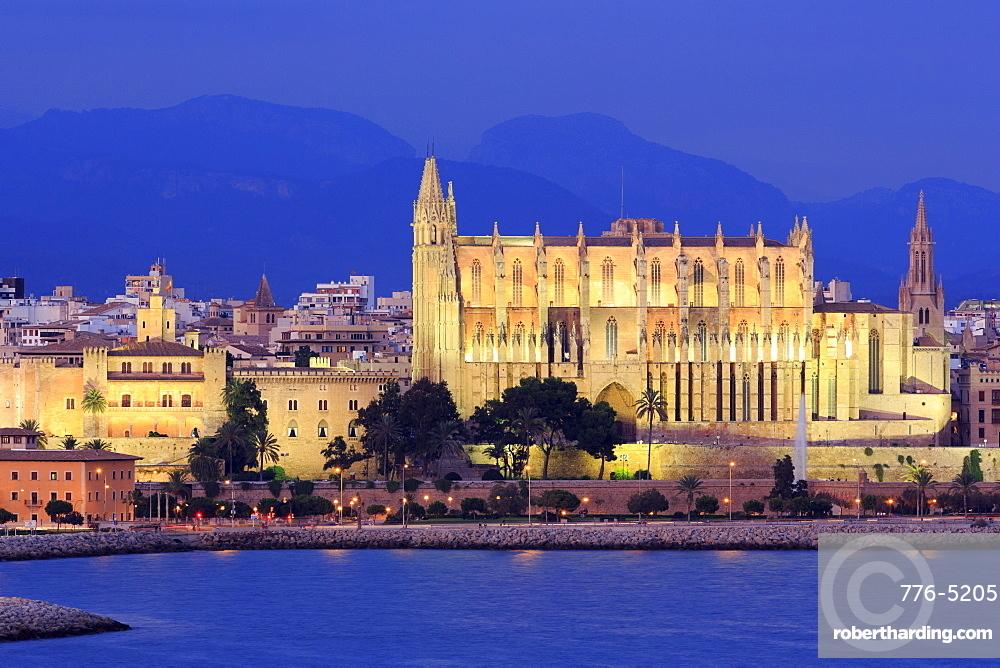 Cathedral, Palma De Mallorca, Majorca, Balearic Islands, Spain, Mediterranean, Europe