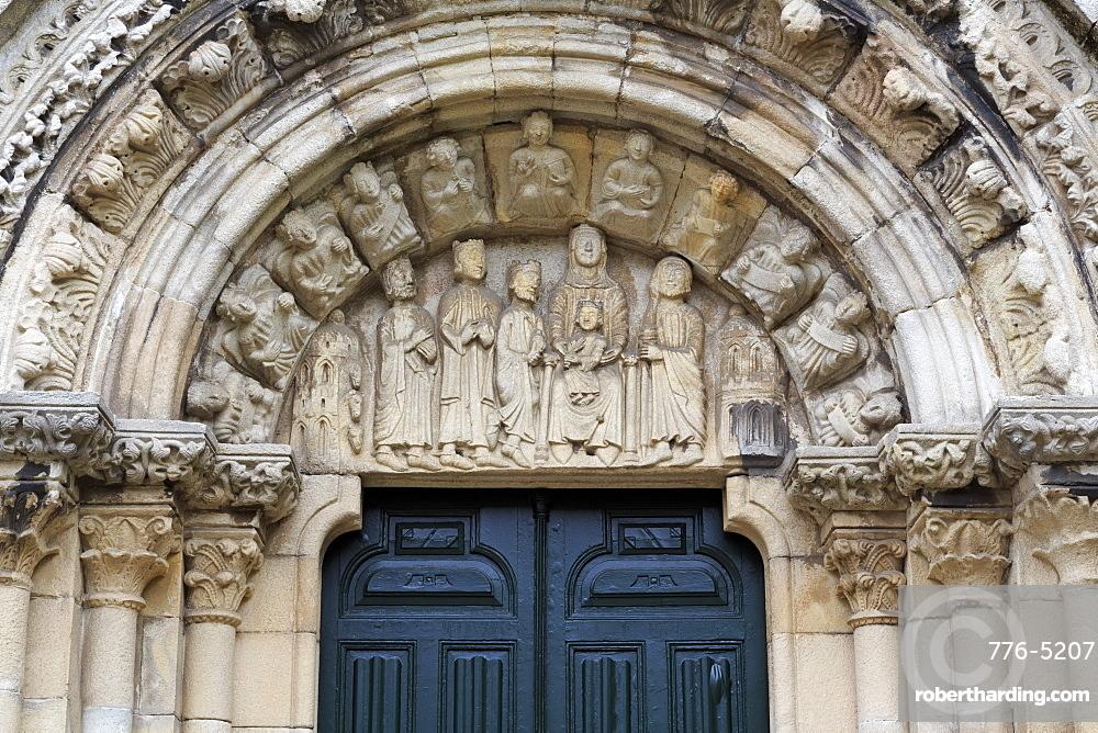 Santa Maria Church, Old Town, La Coruna City, Galicia, Spain, Europe