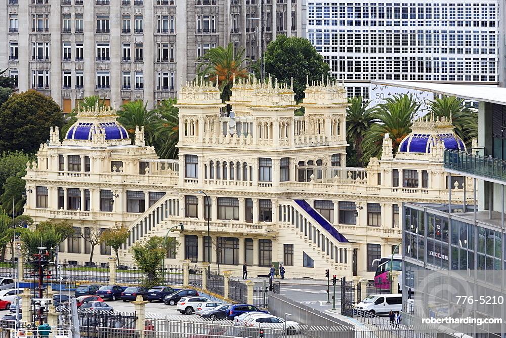 Terraza Building, La Coruna City, Galicia, Spain, Europe