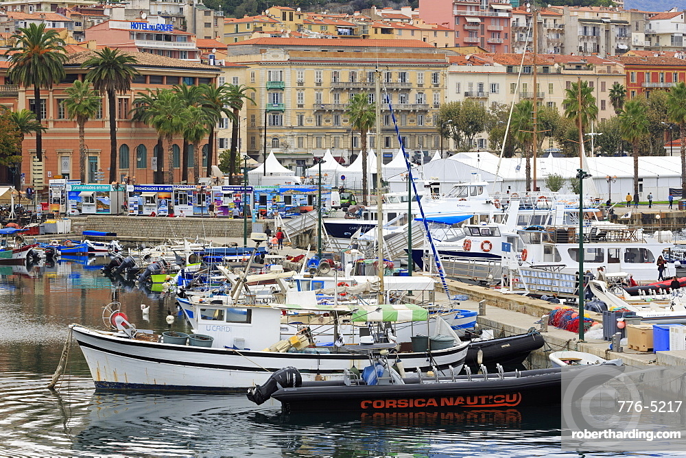 Napoleon Quay, Ajaccio City, Corsica Island, France, Europe