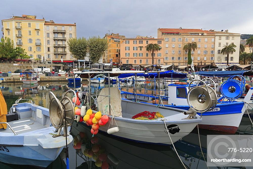 Fishing boats, Ajaccio, Corsica Island, France, Mediterranean, Europe