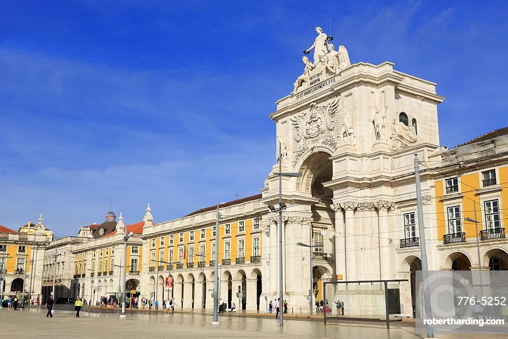 Arco da Rua Augusta, Praca Do Comercio, Lisbon, Portugal, Europe