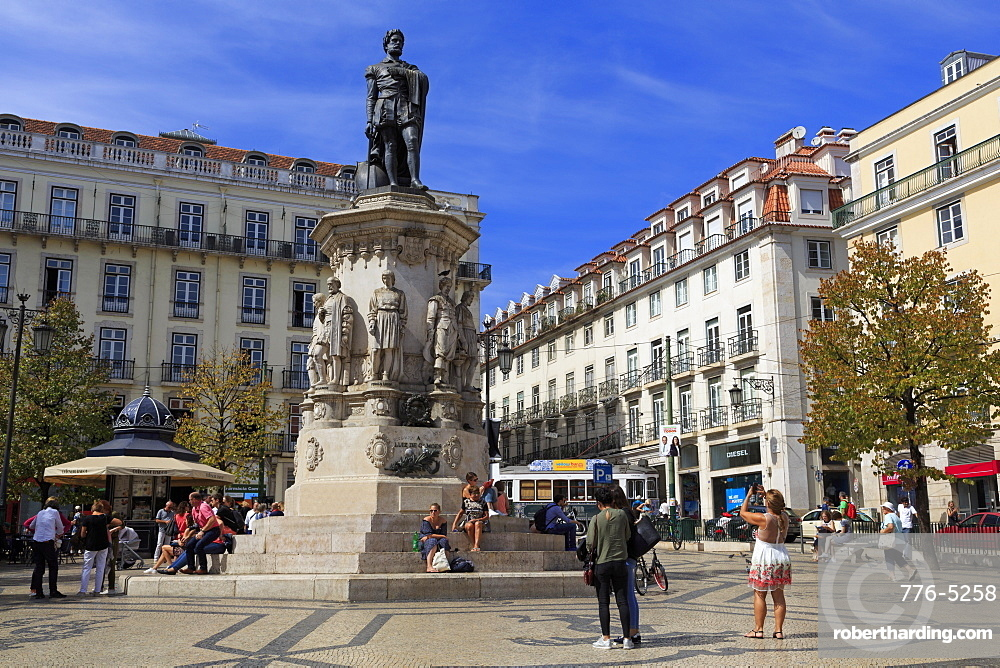 Praca Luis de Camoes, Lisbon, Portugal, Europe