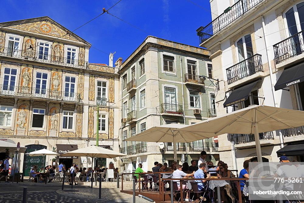 Largo Trindade, Lisbon, Portugal, Europe